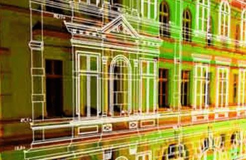 Лазерное 3d сканирование сложных контуров зданий, помещений, сооружений, объектов архитектуры 1