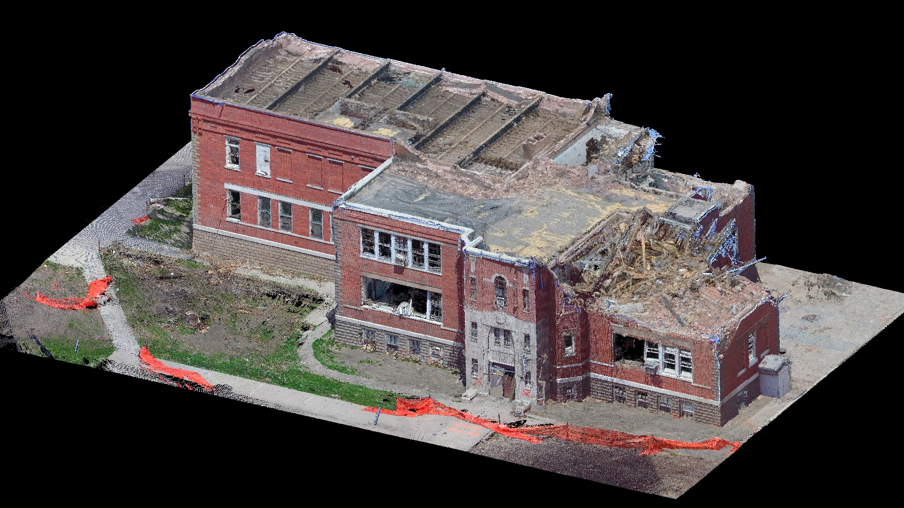 Создание и визуализация 3d модели местности